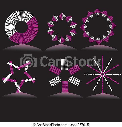 Vector cartoon style icon set - csp4367015