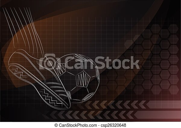 Vector Football background - csp26320648