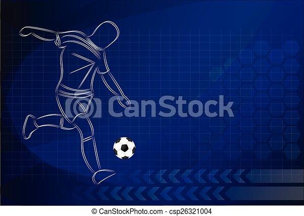 Vector Football background - csp26321004