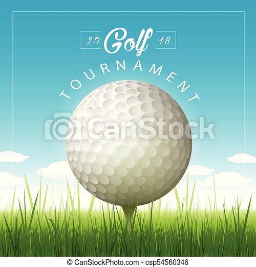 Vector golf tournament background - csp54560346