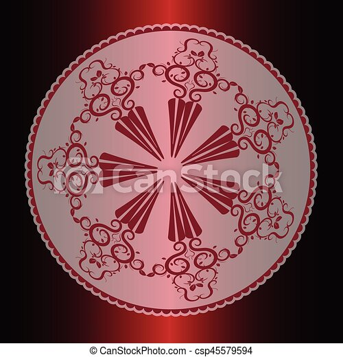 Vector illustration of calligraphic elements and page decoration. - csp45579594