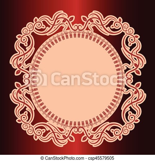 Vector illustration of calligraphic elements and page decoration. - csp45579505