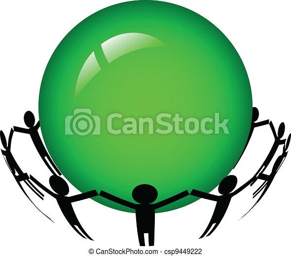Vector - people around the world - csp9449222