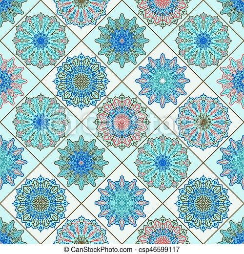 Vector Seamless Moroccan Pattern - csp46599117