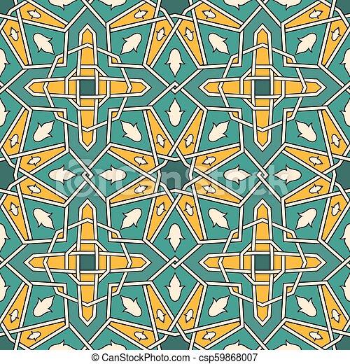 Vector Seamless moroccan pattern - csp59868007
