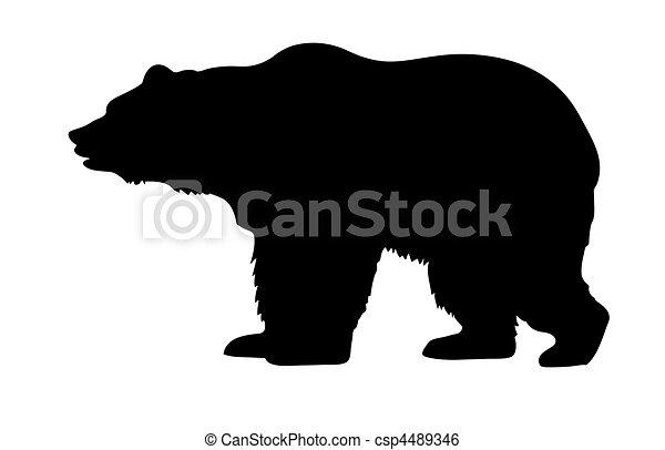 vector silhouette bear - csp4489346