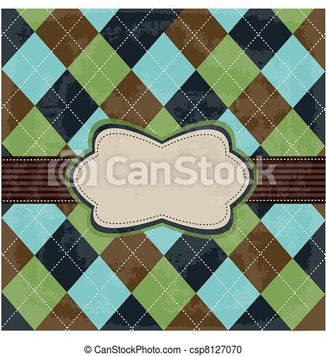 Vintage card design - csp8127070