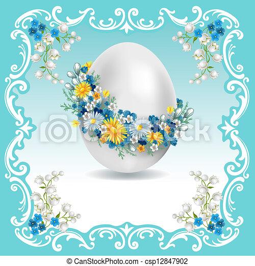 Vintage Easter card - csp12847902