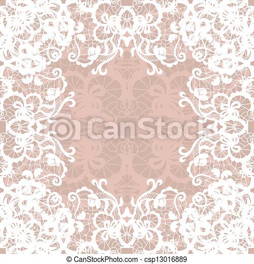 Vintage lace invitation card. - csp13016889