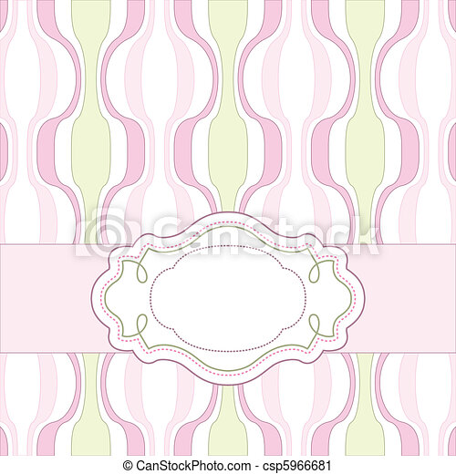 Vintage pink card - csp5966681