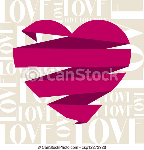 Vintage Valentines Day greeting card. - csp12273928