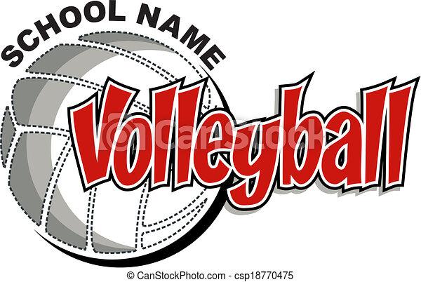 volleyball design - csp18770475