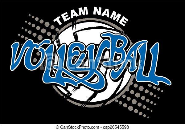 volleyball team design - csp26545598