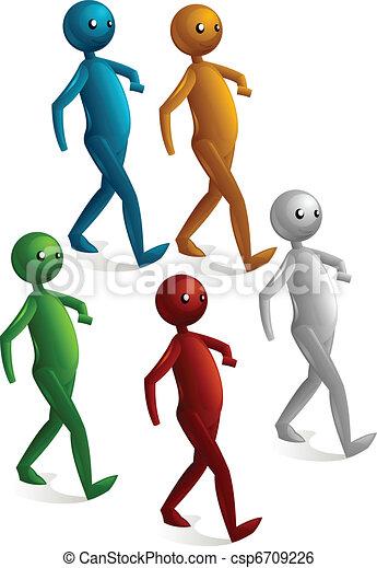 walking stick figure - csp6709226