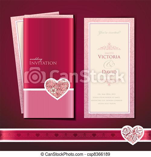Wedding invitation card - csp8366189