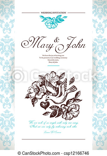 Wedding invitation card - csp12166746