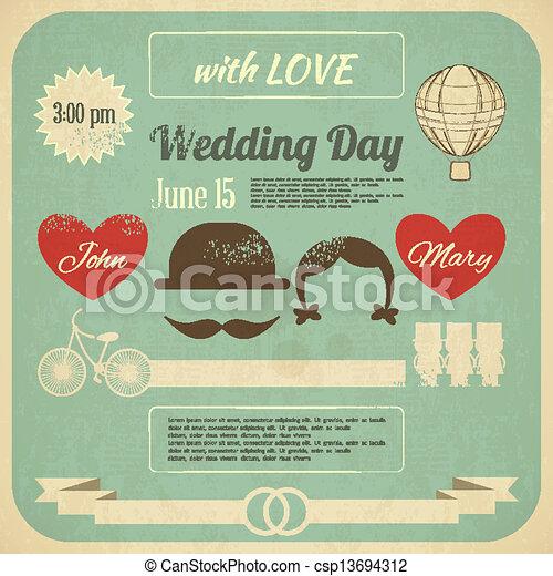 Wedding Invitation - csp13694312