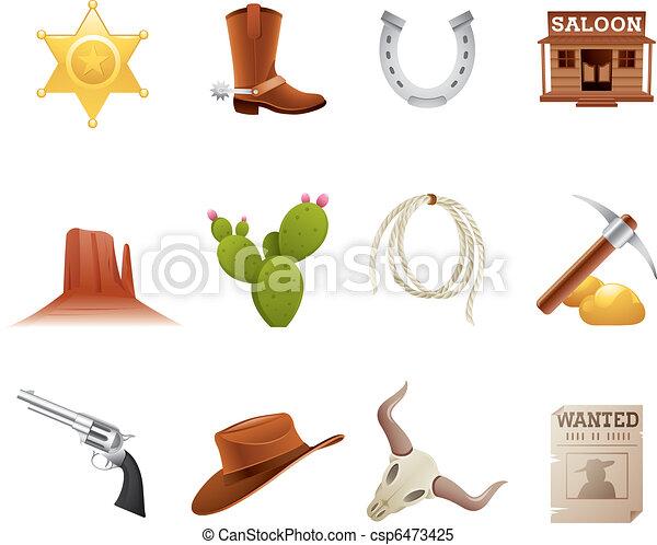 Wild west icons - csp6473425