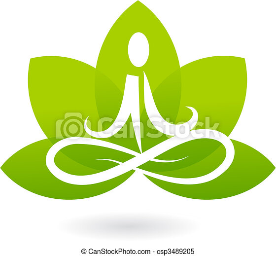 Yoga lotus icon / logo - csp3489205